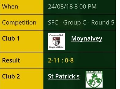 St. Pats Result 1